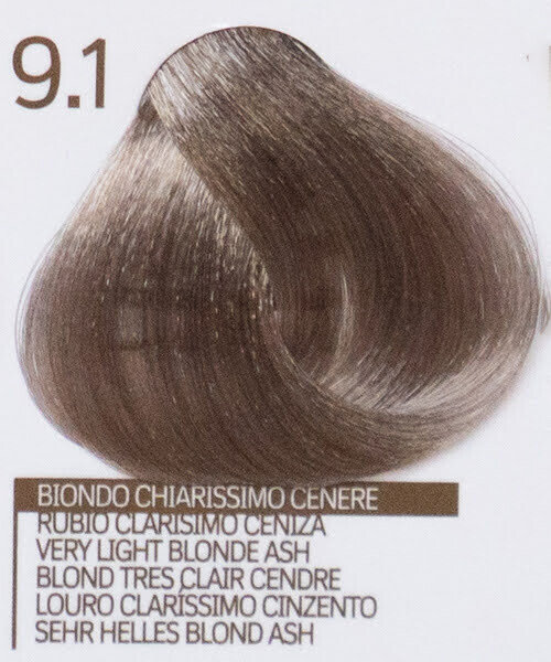 9.1 VERY LIGHT BLONDE ASH БОЯ ЗА КОСА DESIGN LOOK 100 ML