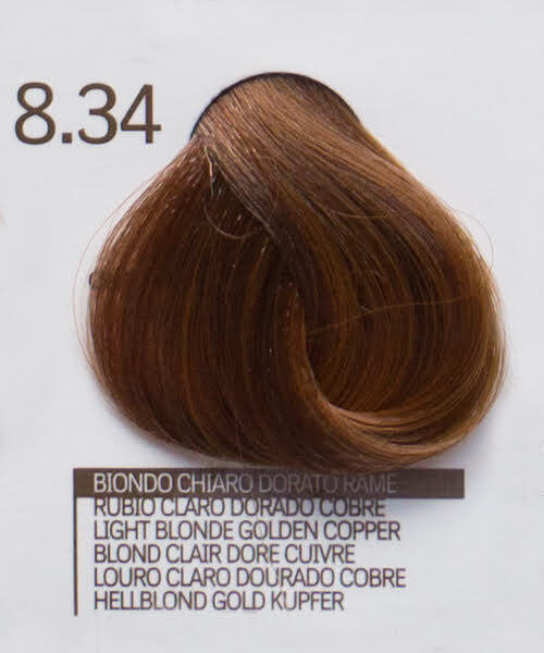 8.34 LIGHT BLONDE PLATINUM COPPER БОЯ ЗА КОСА DESIGN LOOK 100 ML